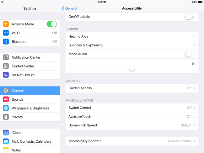 iPad Settings General
